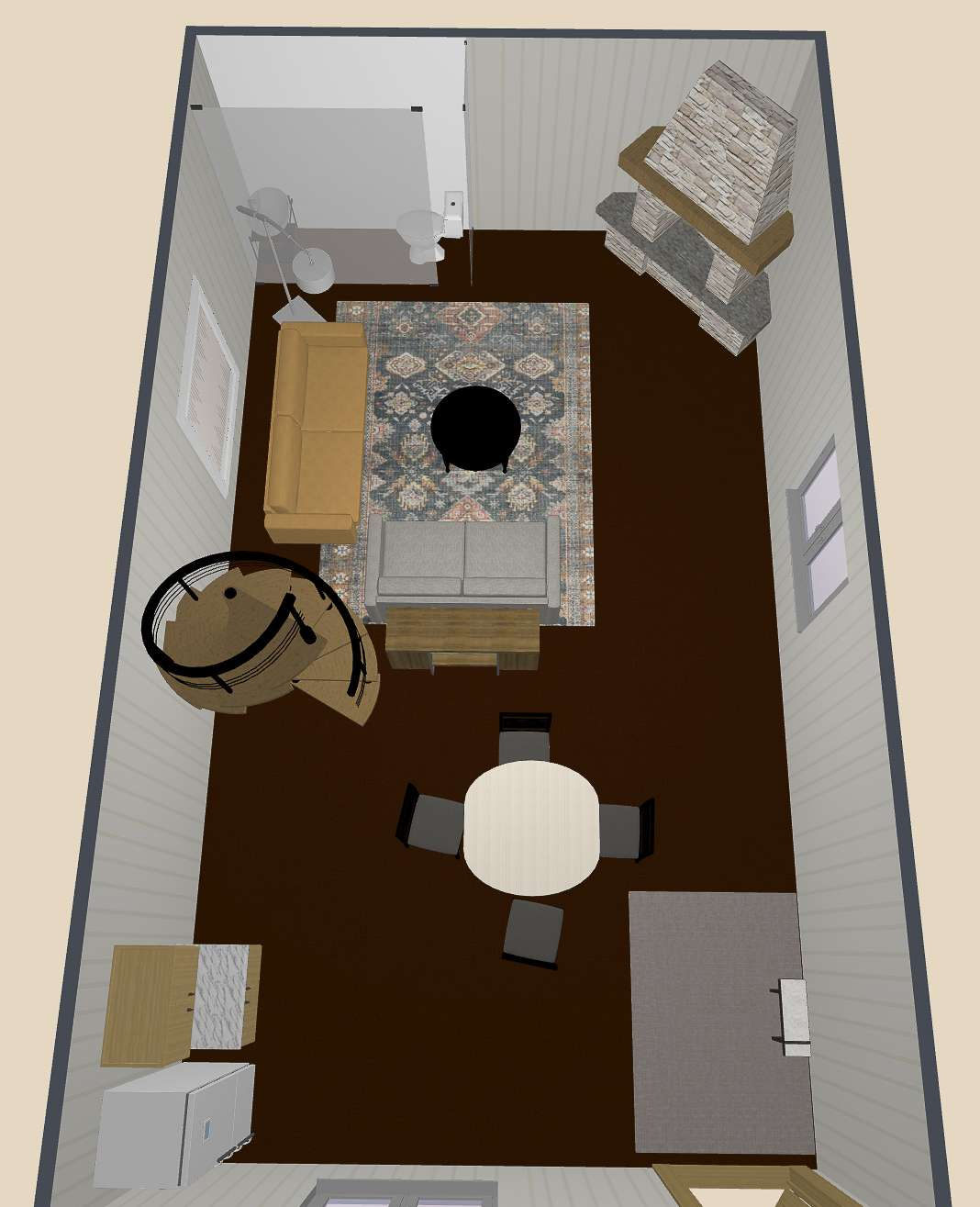 3D Rendering of a guest house.