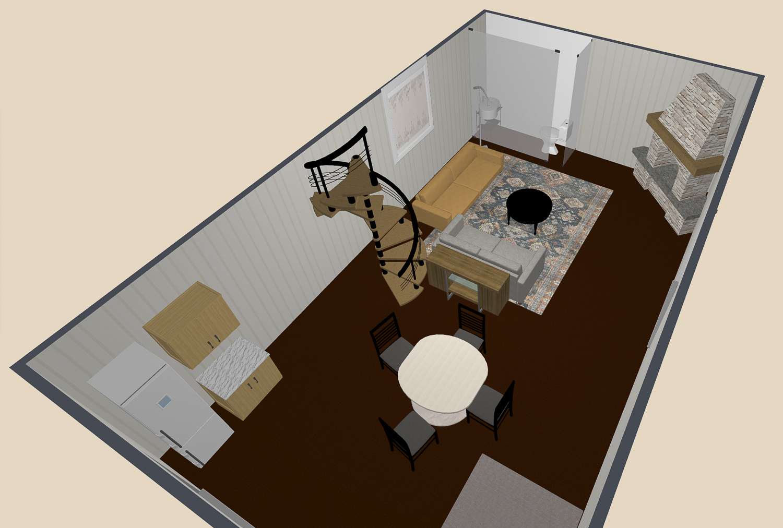 3D Guest house design plans