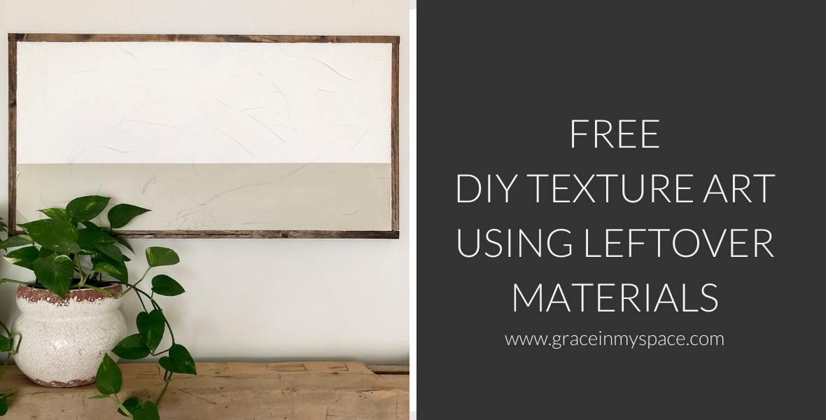 Do you love the look of abstract texture art, but don't want to pay hundreds of dollars? Learn how to create this DIY texture art using leftover materials!