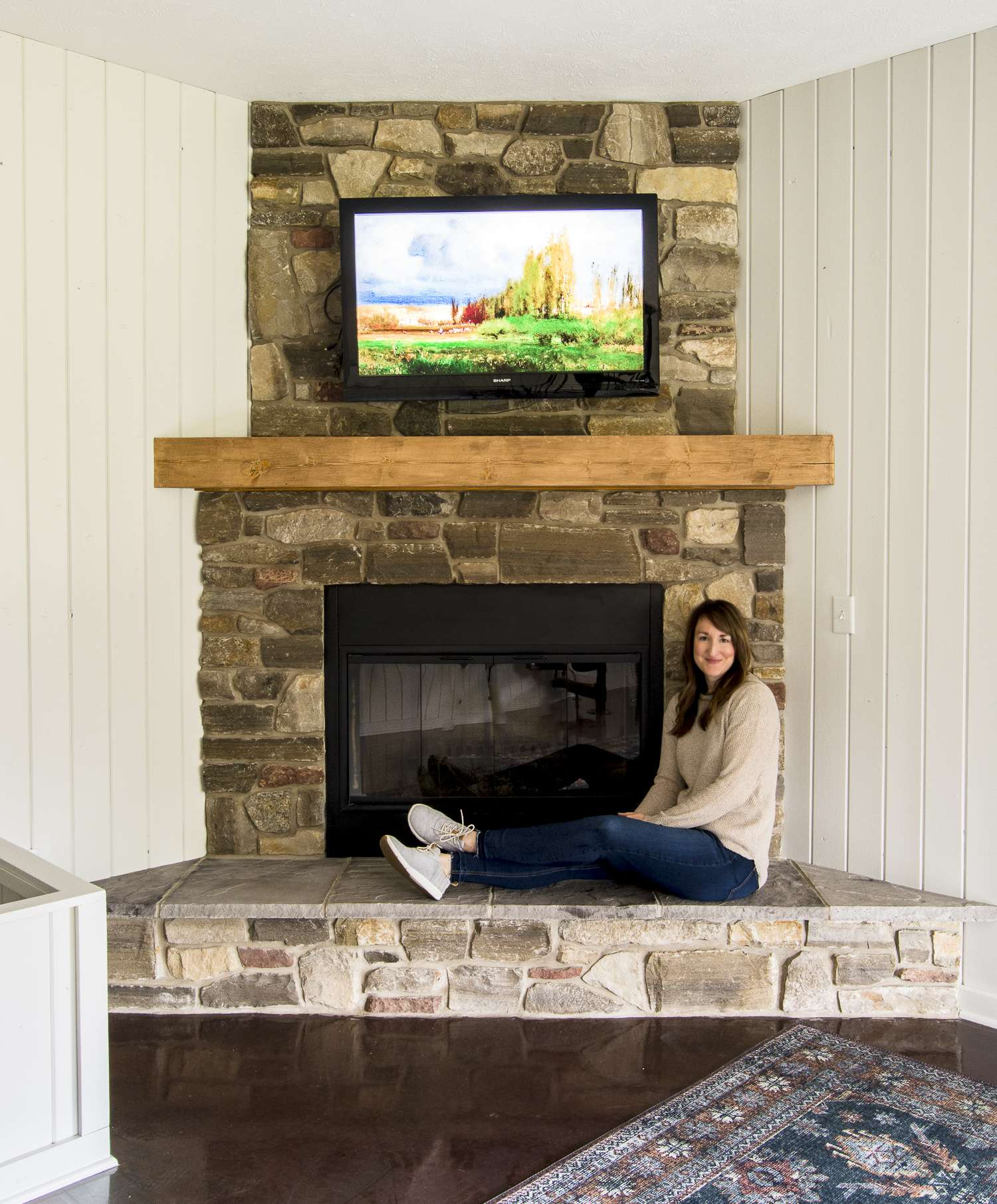 fireplace makeovers on a budget.