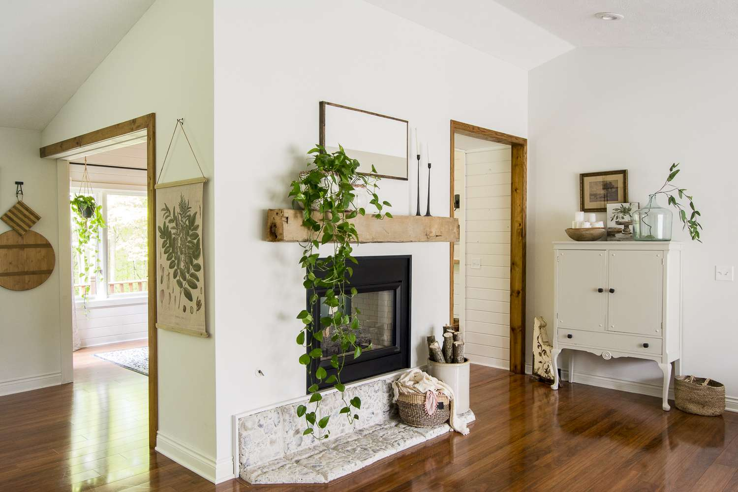 double sided fireplace.