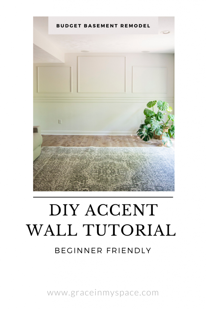 DIY Accent Wall Using Simple Wall Moulding