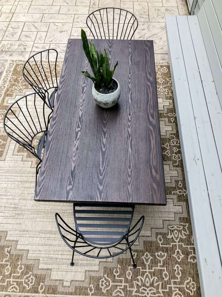 Wood patio table