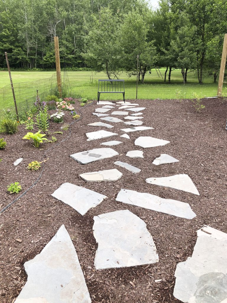 Finished flagstone path.