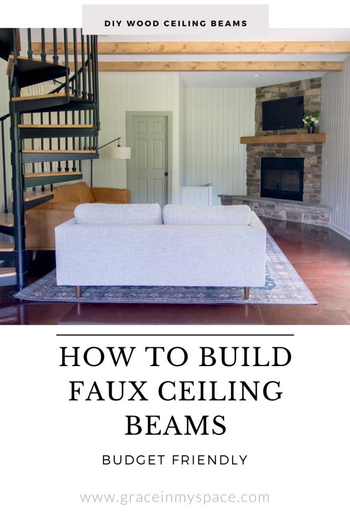 DIY Wood Beams Tutorial | Guest House Ceiling