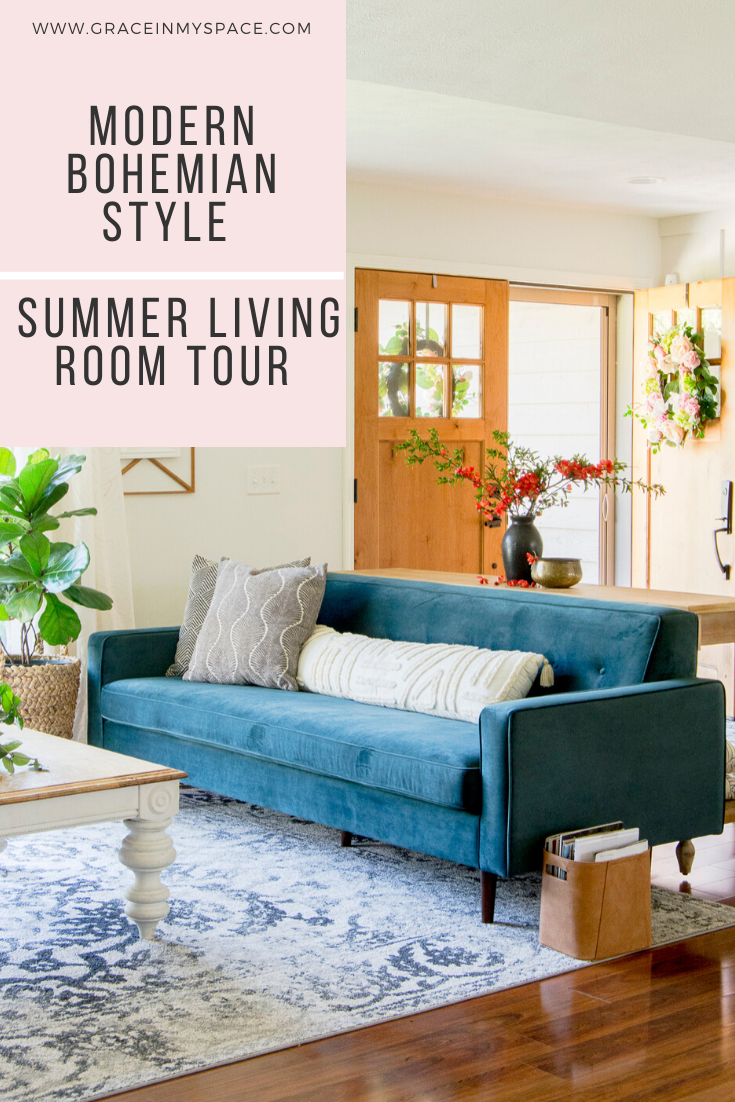 Get the Modern Bohemian Style | Summer Living Room Tour