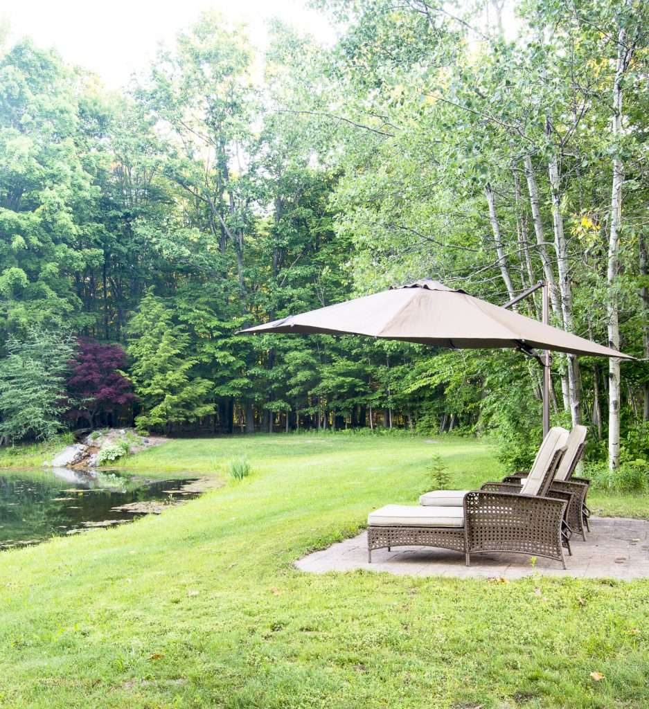 Outdoor spaces for relaxation.