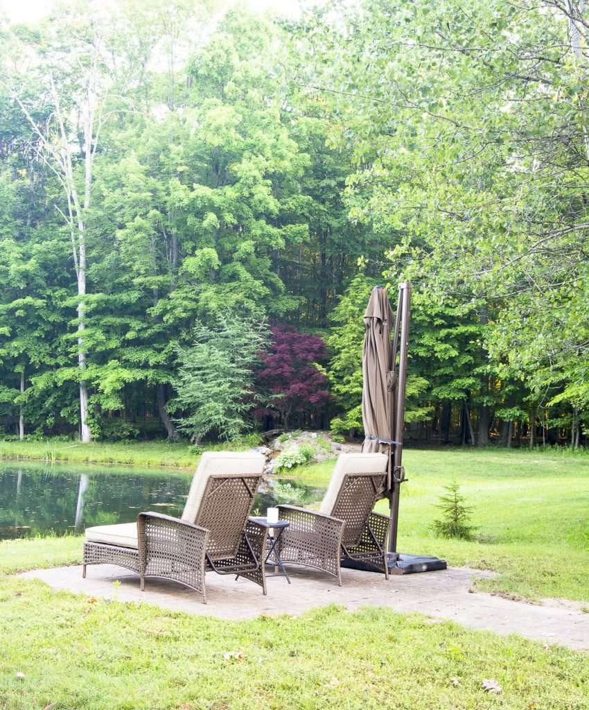 Outdoor spaces for relaxation