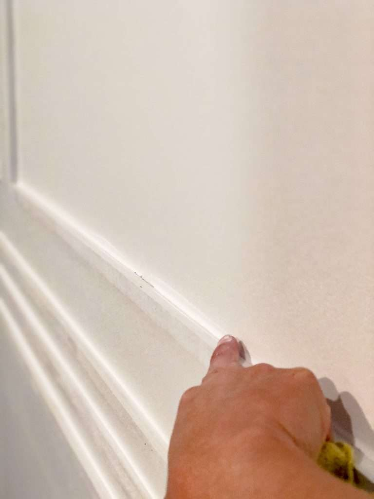 Caulking an accent wall