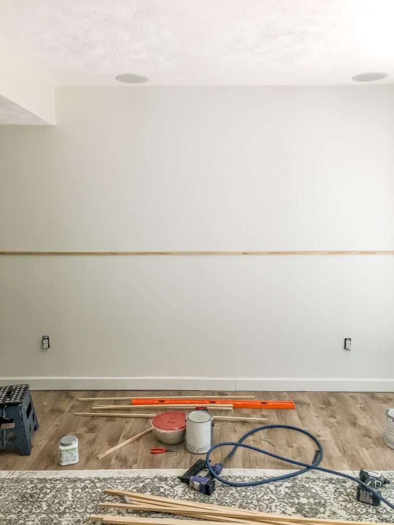 Anchor point for accent wall.