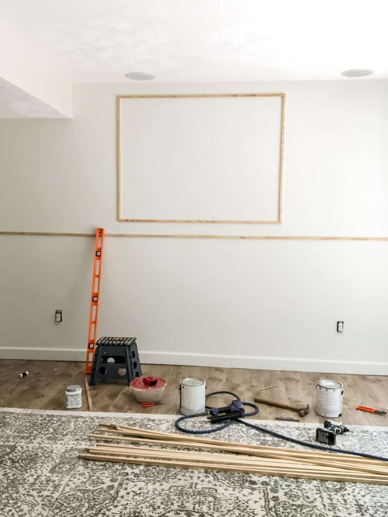 Center point of a DIY Accent wall.