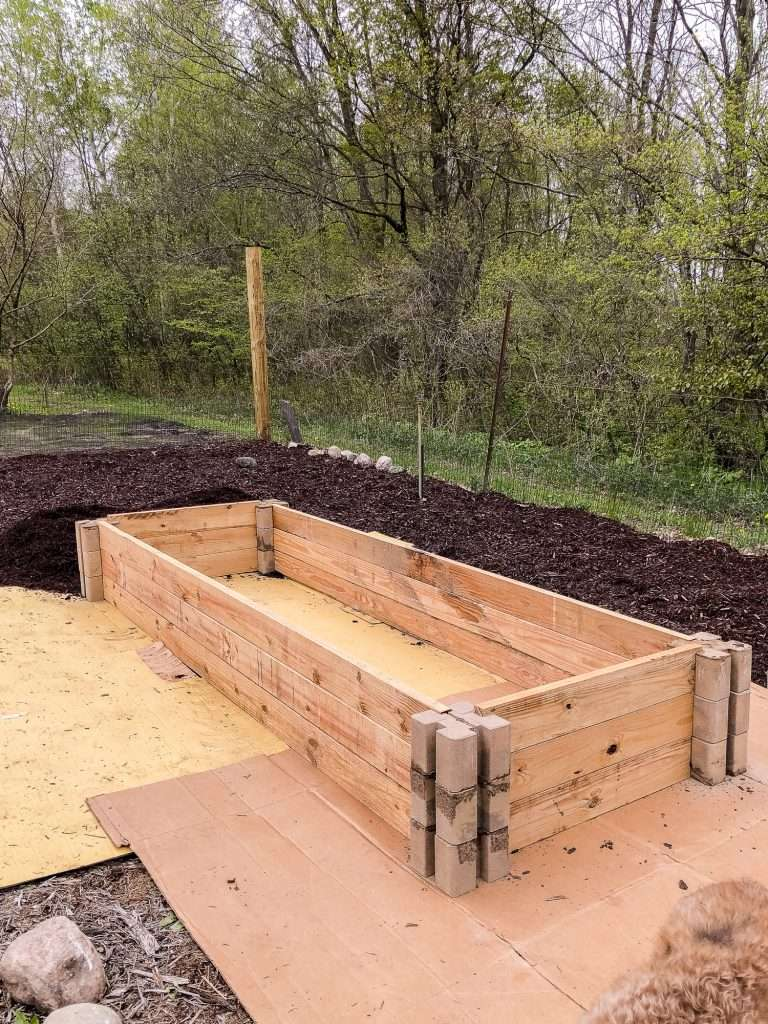 Easy raised garden bed.