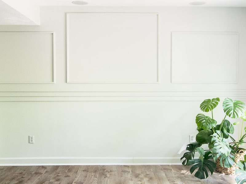 DIY Accent Wall Tutorial Using Simple Wall Moulding