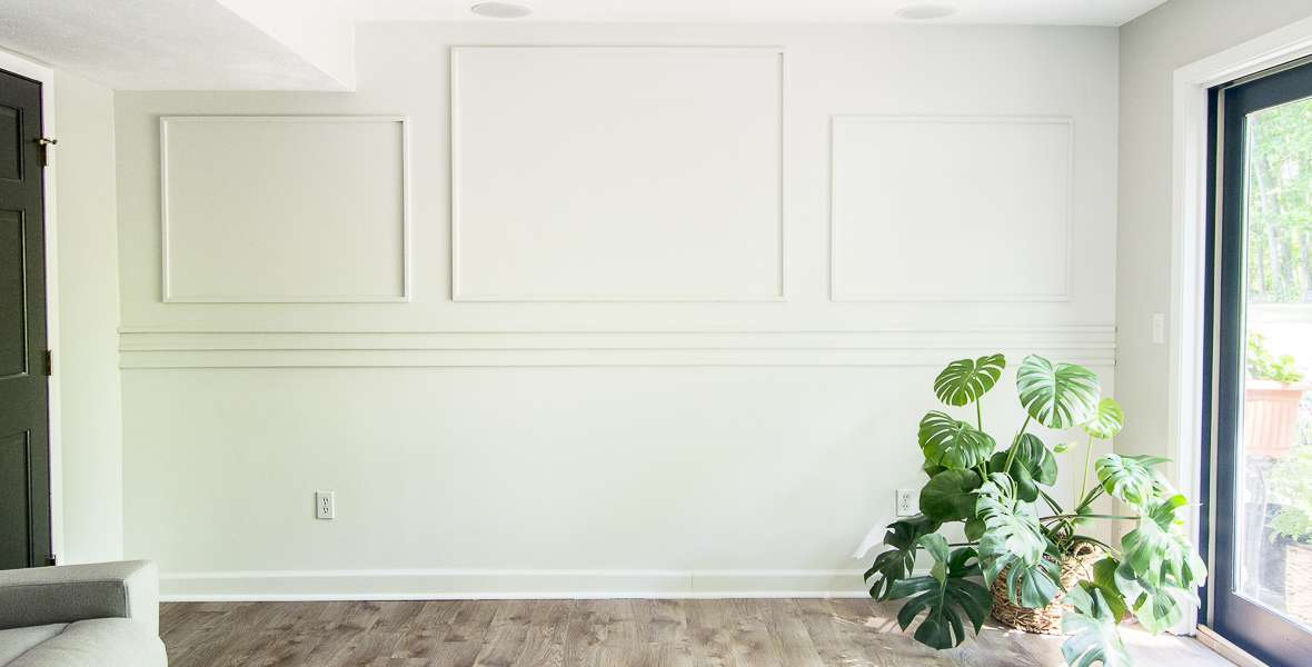 Adding wall moulding instantly increases the wow factor in any room! Use this easy tutorial to create your own DIY accent wall that even beginners can do!