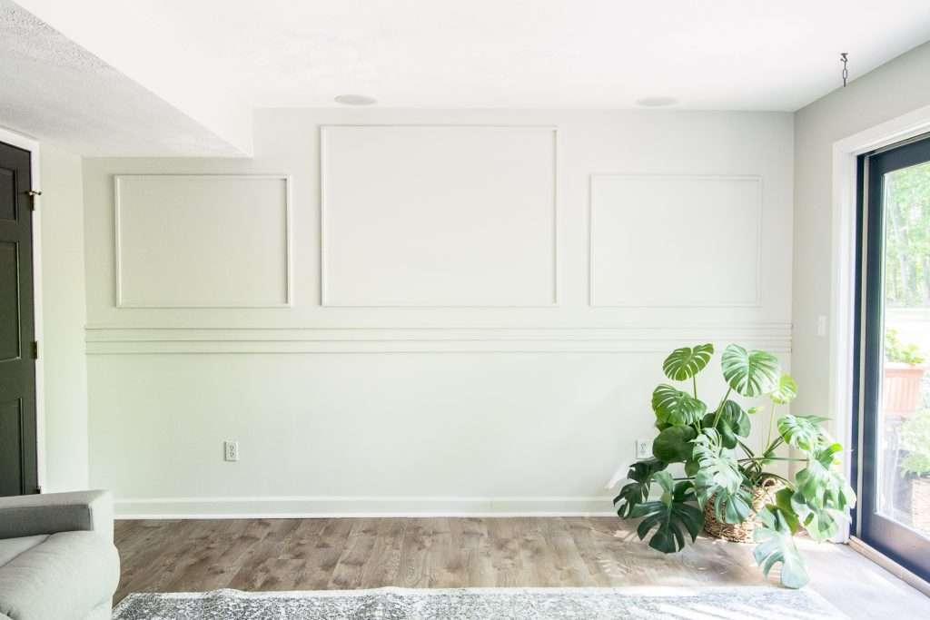 DIY Basement Accent Wall