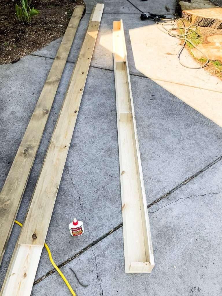 Building faux beams.