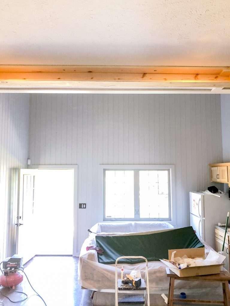Installing ceiling beams