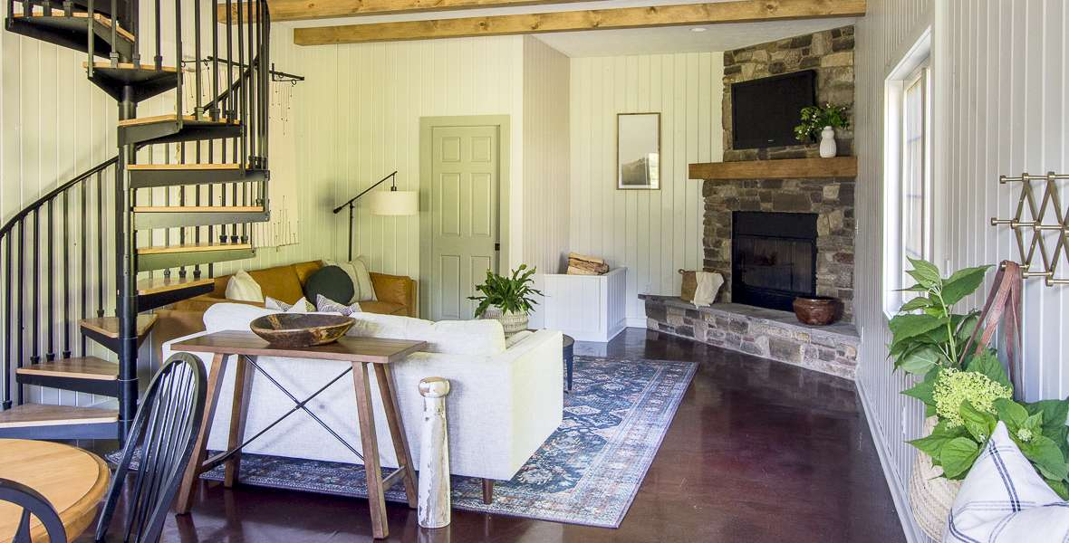 Modern rustic guesthouse remodel reveal