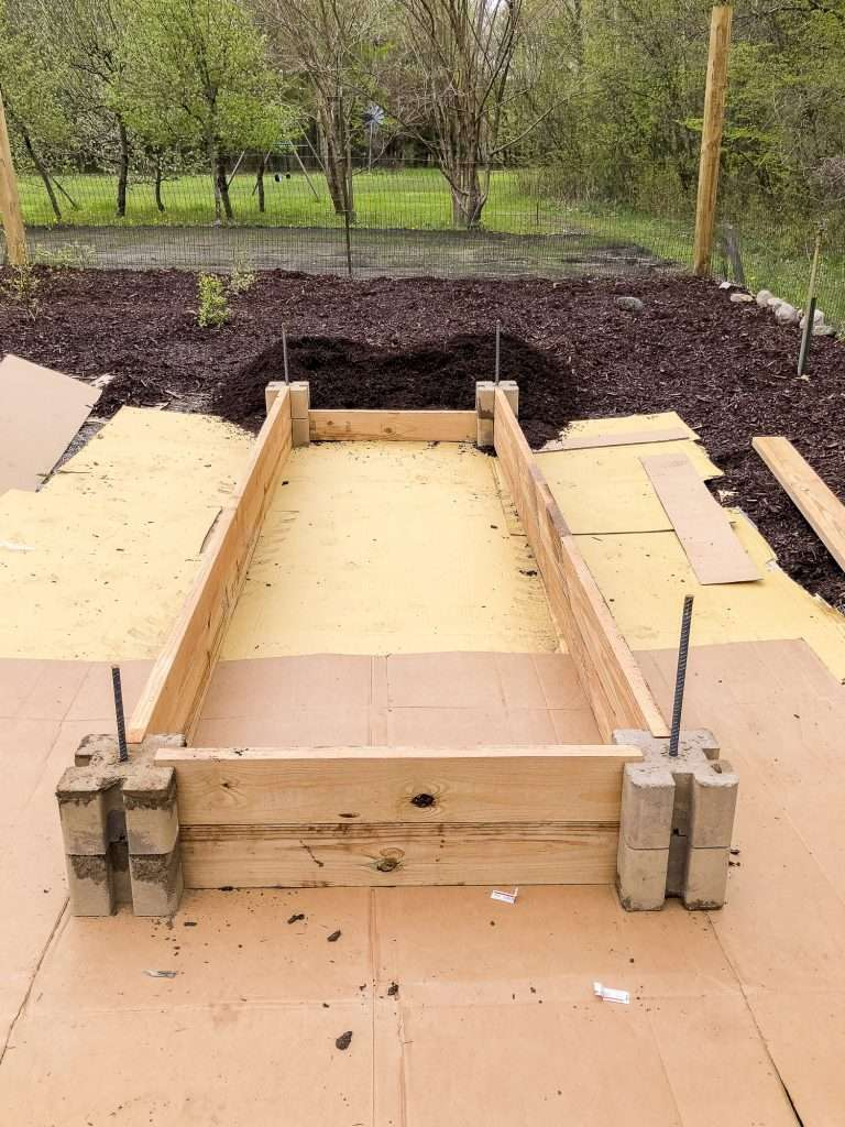 Layer 2 of raised bed