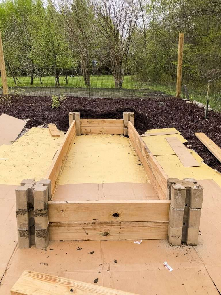 Layer 3 of DIY raised bed.