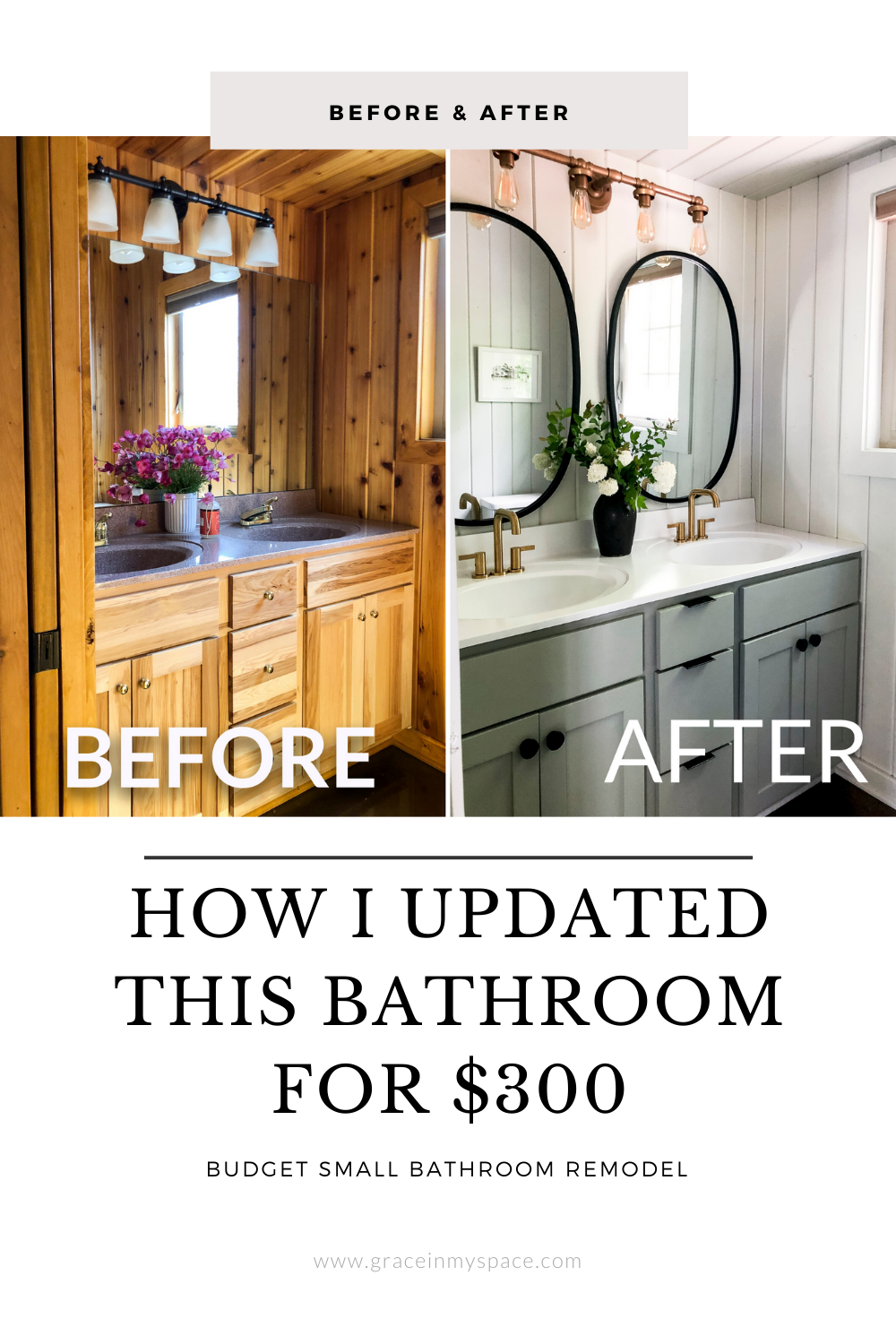 Budget Small Bathroom Remodel for $300