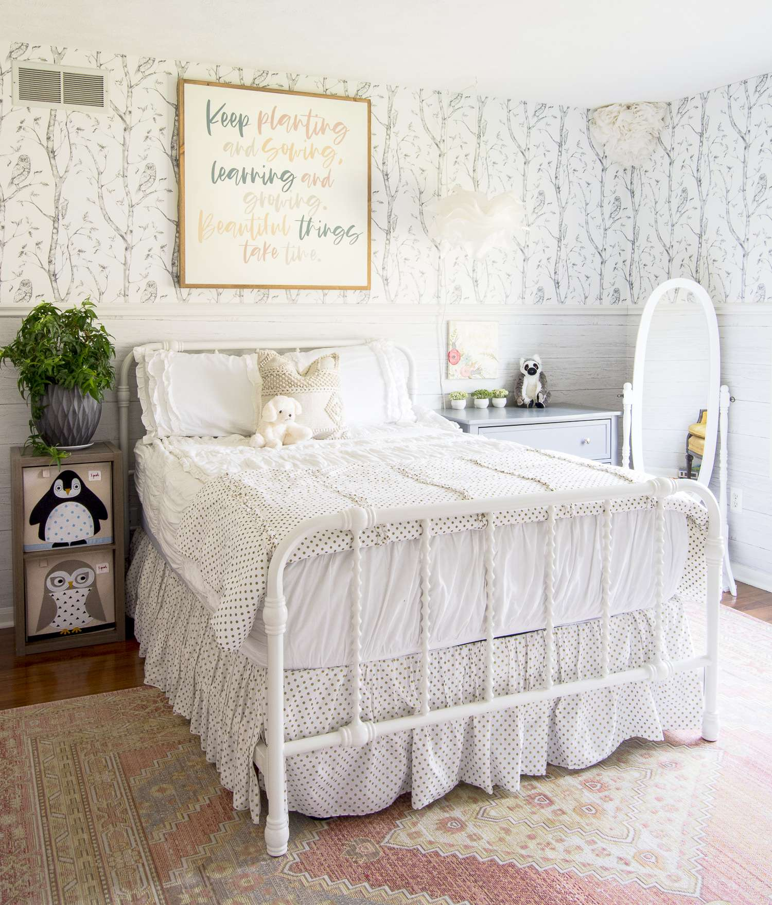 Little girl's bedroom decor.