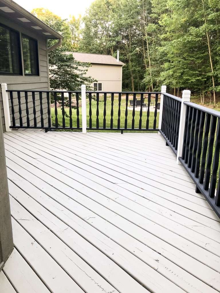 Painted deck completed.