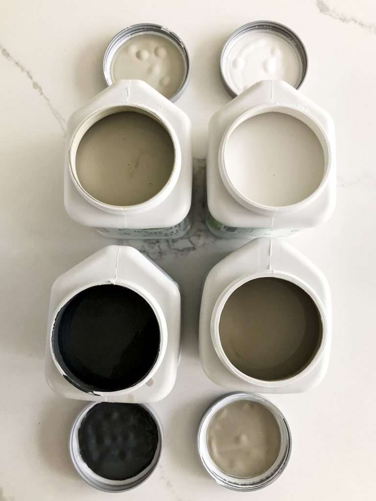 Deck paint samples