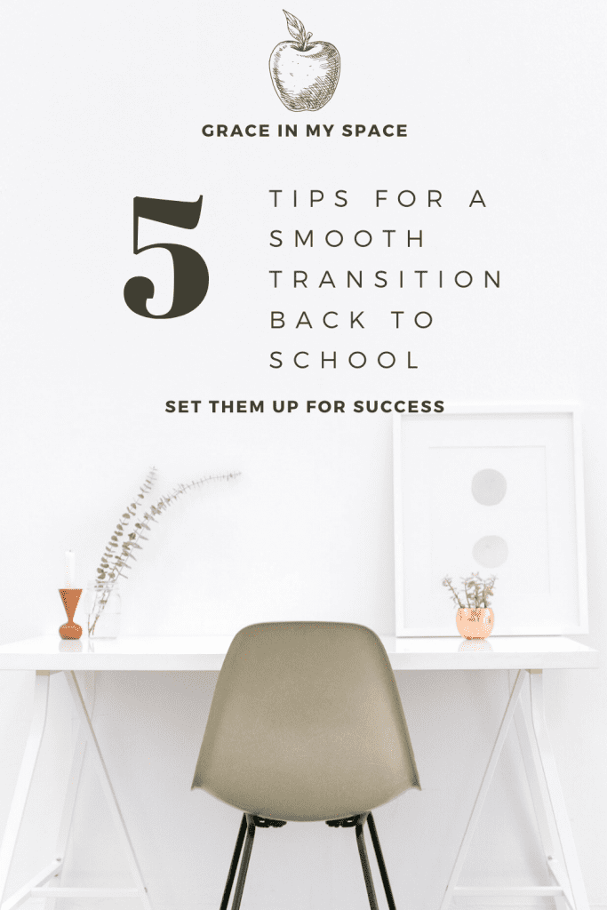 5 Tips for a Smooth Transition Back to School