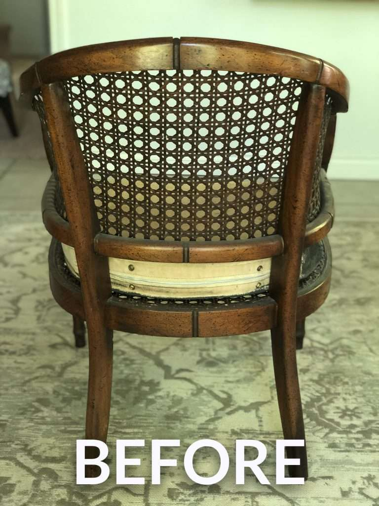Cane armchair backing.