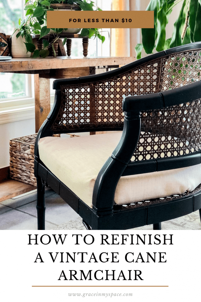 How to Refinish a Cane Armchair