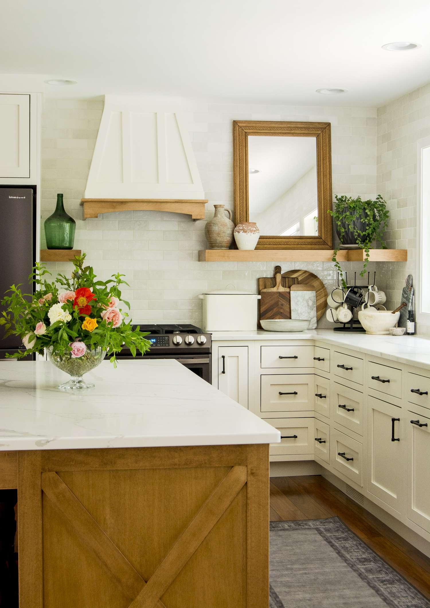 Custom kitchen remodel details.