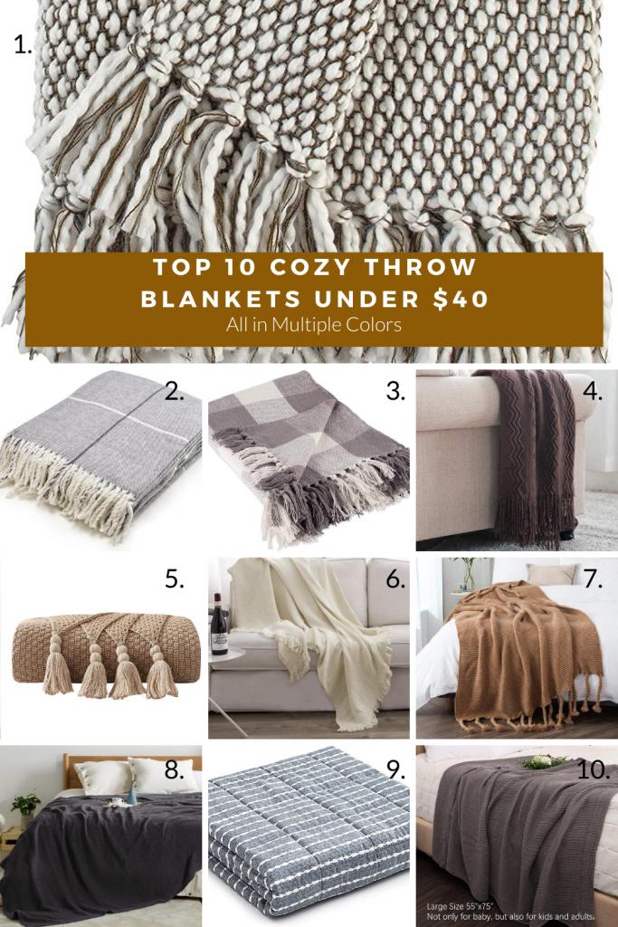 Cozy home decor throw blankets