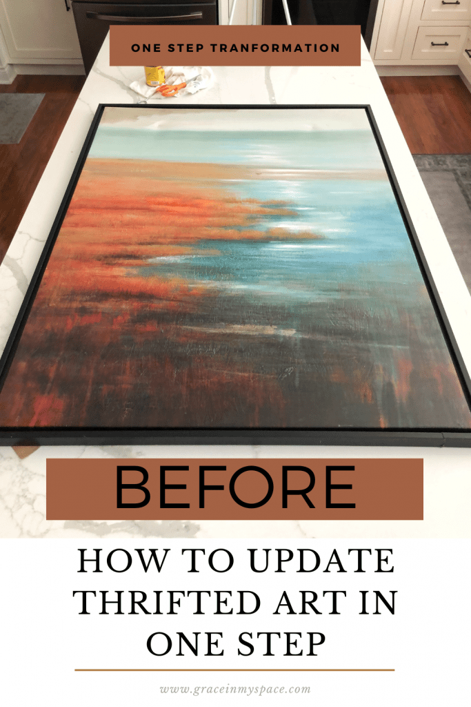 How to update thrifted art.