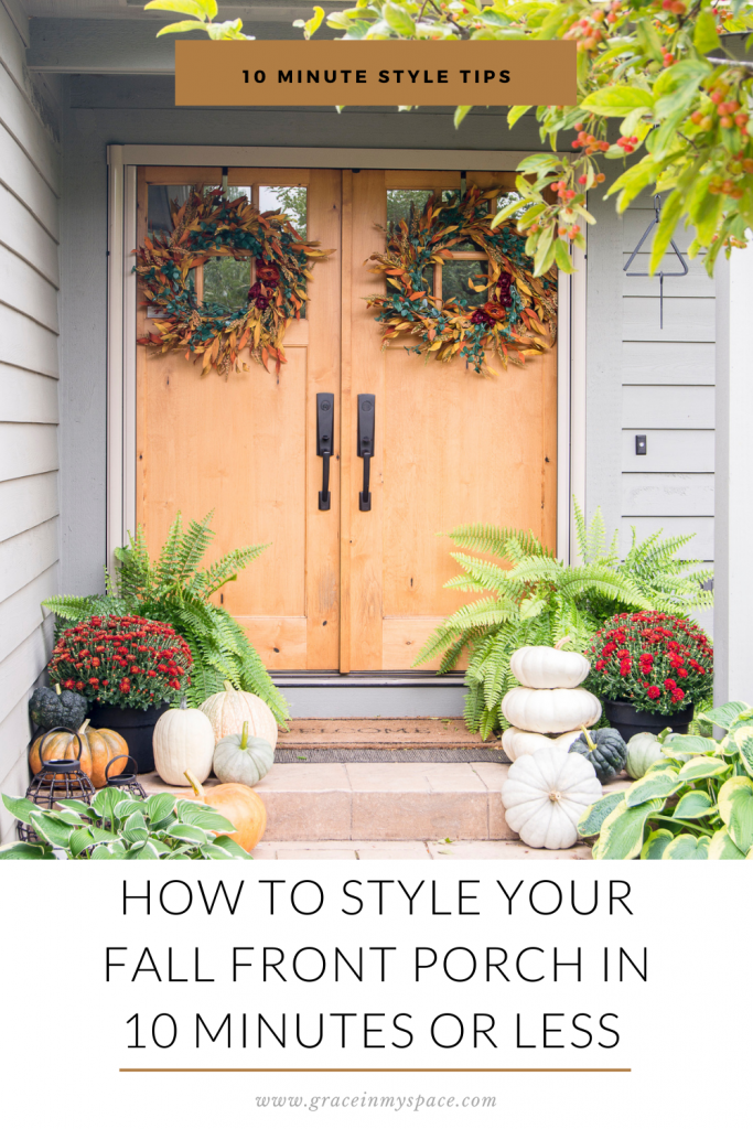How to Decorate Your Fall Front Porch in 10 Minutes