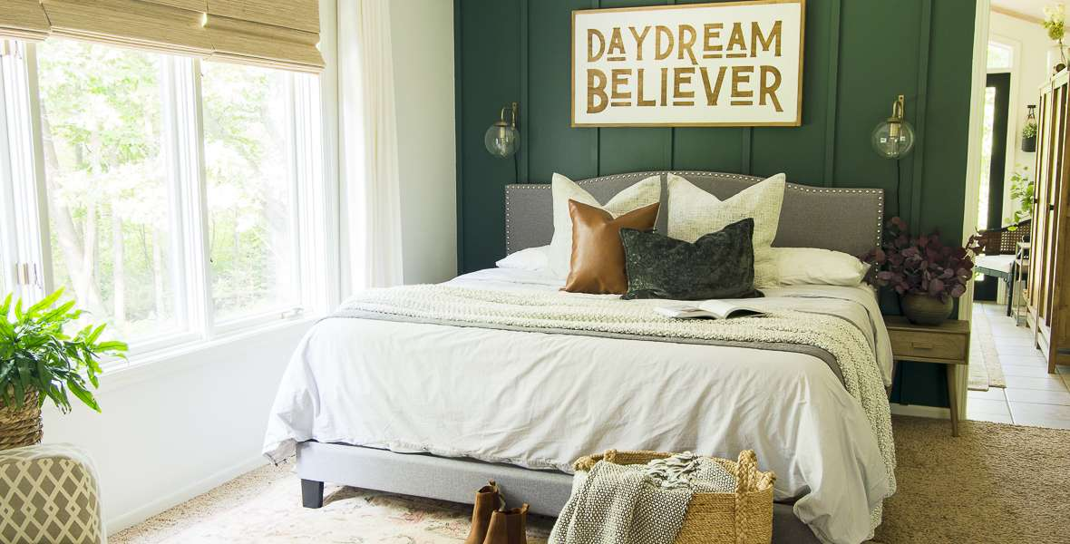 Cozy Bedroom Colors to Pair with Grey Bedding