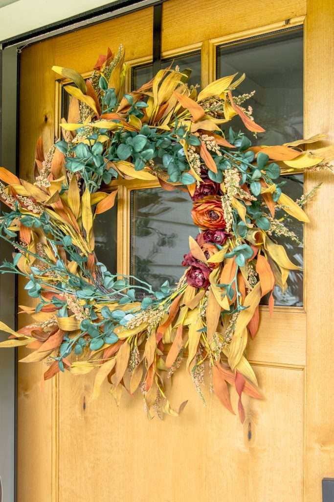 Finished fall DIY Outdoor Wreath