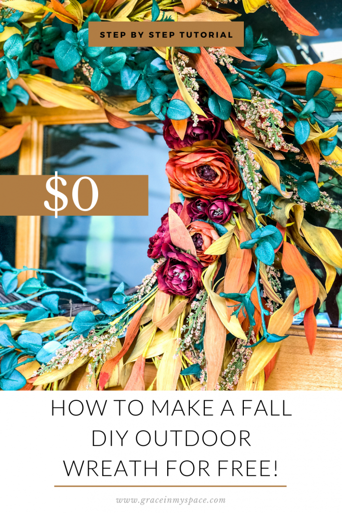 How to Make a Fall DIY Outdoor Wreath
