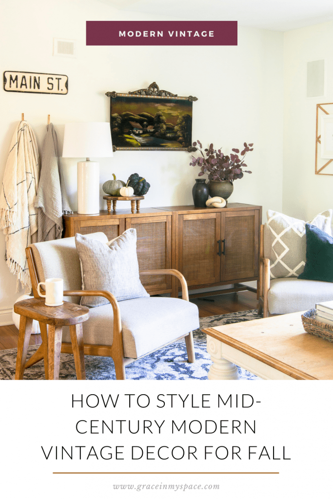 How to Style Mid-Century Modern Vintage Decor for Fall