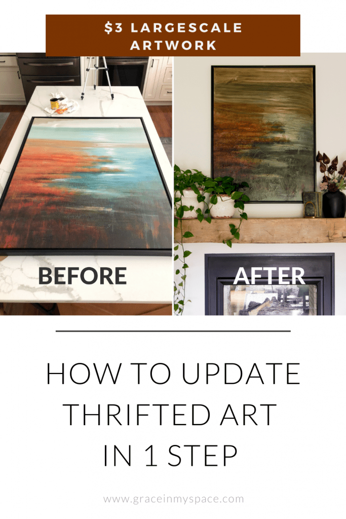 How to Update Thrifted Art in One Step