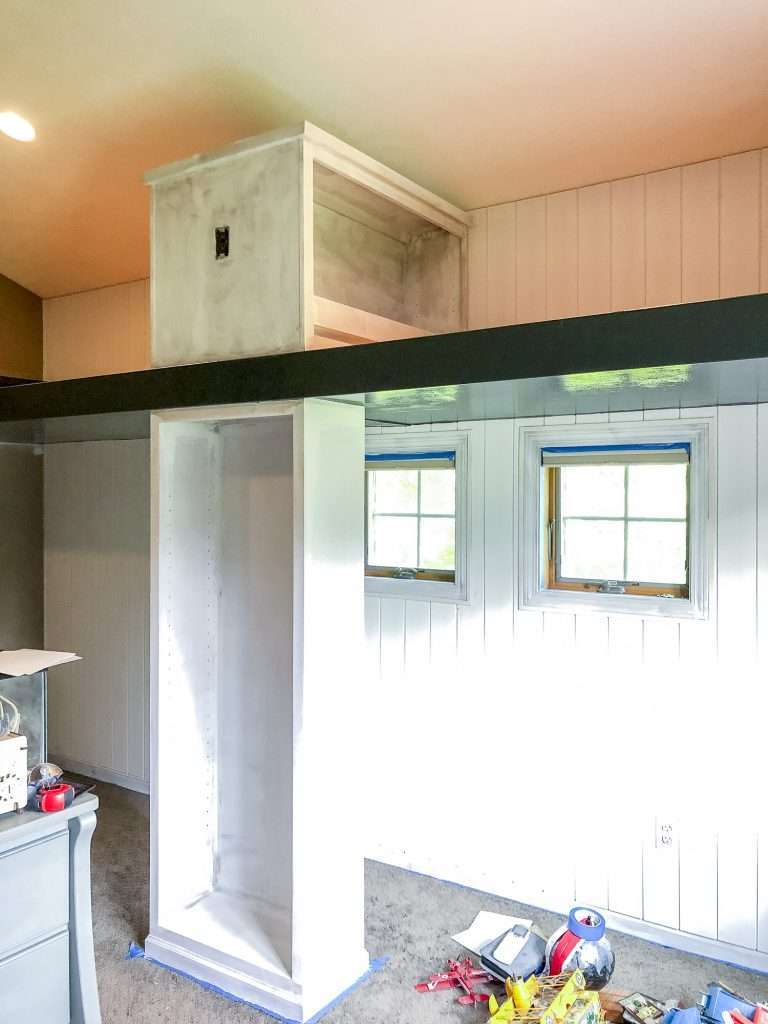 Painted shiplap tutorial