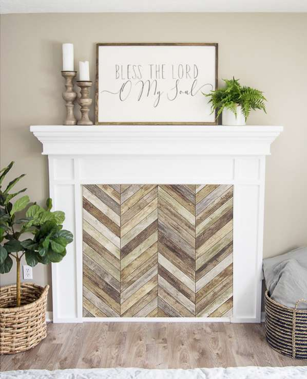 Chevron wood pattern