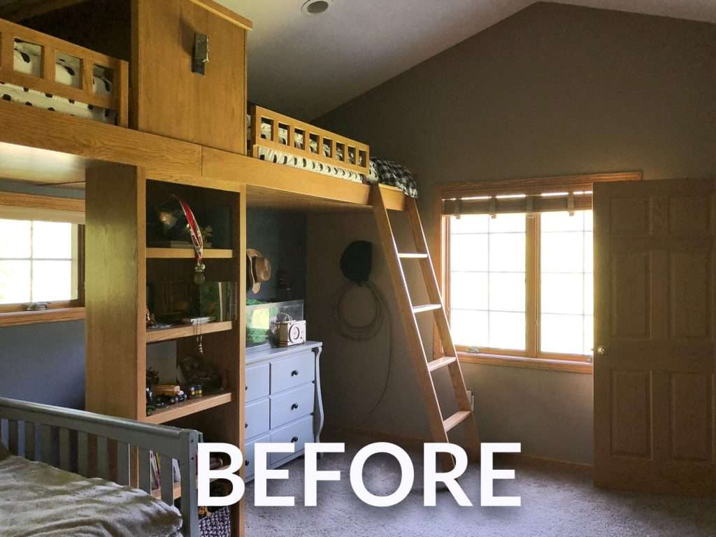 How to Modernize A Double Loft Bed with Paint