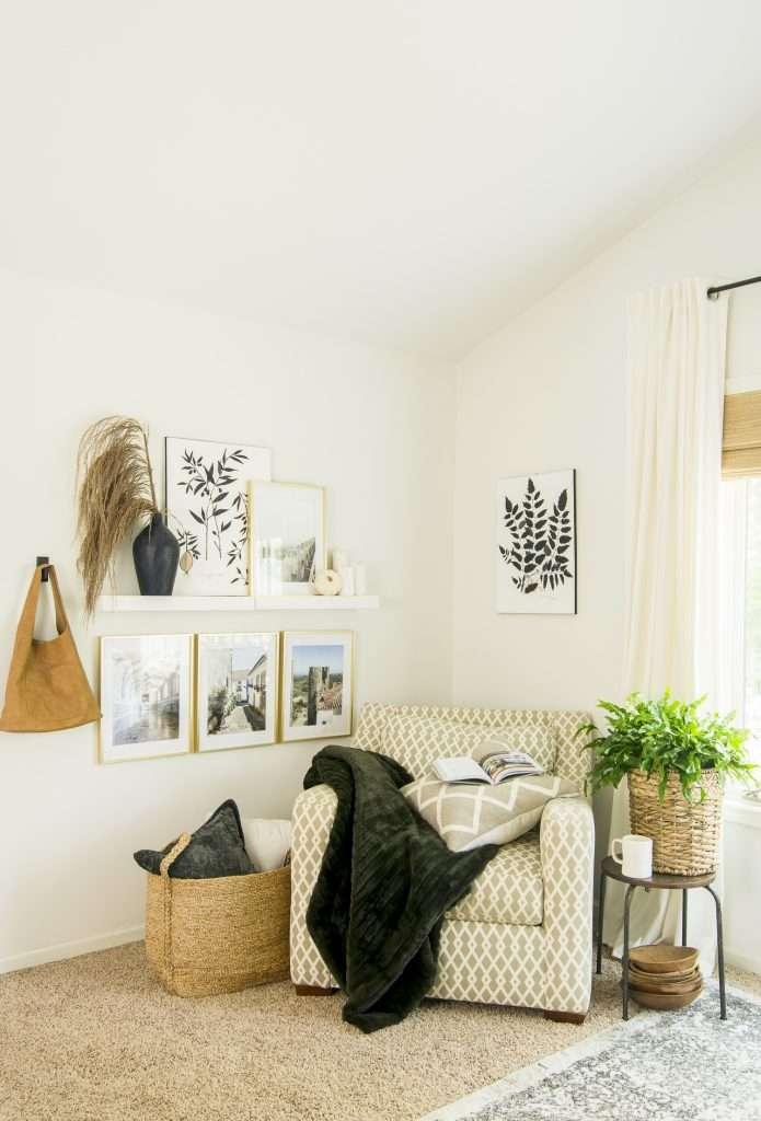 Cozy corner in a bedroom