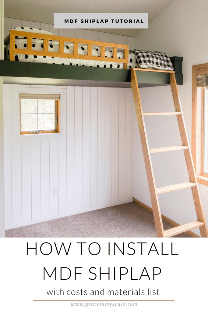 How to Install MDF Shiplap on Interior Walls