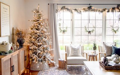 Mid Century Modern Christmas Styling