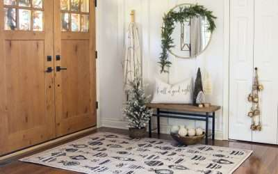 Festive Entryway Christmas Area Rugs