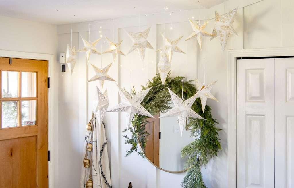 Christmas star display