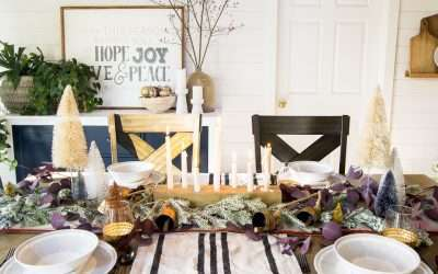 Table Decor for a Cozy Christmas Tablescape