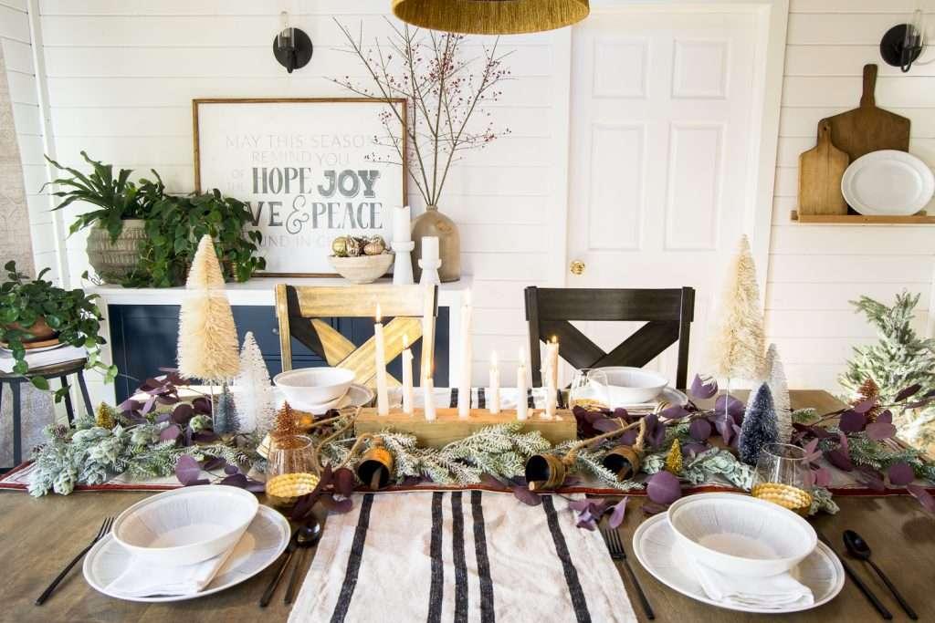 Christmas table decor.